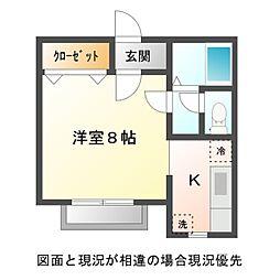 愛知県豊川市新豊町2丁目の賃貸アパートの間取り