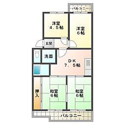 第2マンション鈴木B棟[1階]の間取り