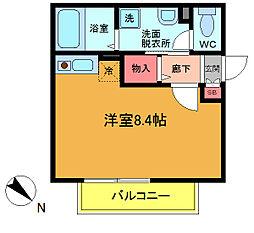 千葉県市川市福栄4丁目の賃貸アパートの間取り