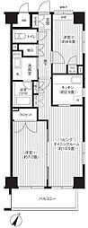 東京都練馬区東大泉6丁目の賃貸マンションの間取り