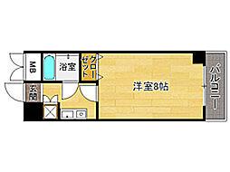 エステートモア六本松[2階]の間取り