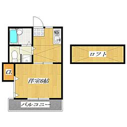 東京都葛飾区立石3丁目の賃貸アパートの間取り