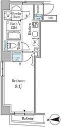 ラディーチェ芝 3階ワンルームの間取り