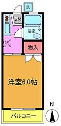 カーサ富士見[106号室]の間取り