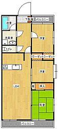 ライオンズマンション博多南第2[206号室]の間取り