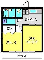 オリーブコート[1階]の間取り