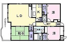 ロイヤルパークマンション[803号室]の間取り