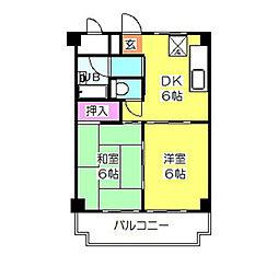 ハイム88 B棟[3階]の間取り