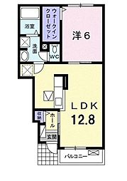 Osaka Metro御堂筋線 新金岡駅 徒歩19分の賃貸アパート 1階1LDKの間取り