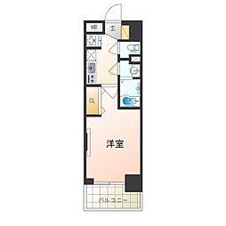 阪急京都本線 崇禅寺駅 徒歩3分の賃貸マンション 2階1Kの間取り