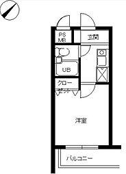 スカイコート宮崎台第4[3階]の間取り