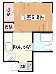 Pal thushima(ぱるつしま)[2階]の間取り