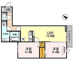東京都世田谷区桜上水1丁目の賃貸アパートの間取り
