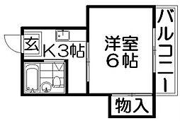 マンション六車[1階]の間取り