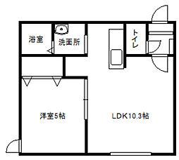 北海道札幌市白石区菊水三条3丁目の賃貸マンションの間取り