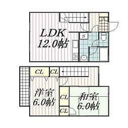 [テラスハウス] 千葉県千葉市中央区葛城2丁目 の賃貸【/】の間取り