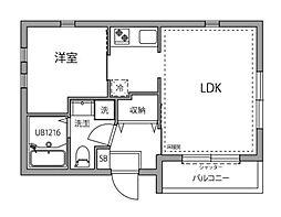 ルーブル井荻壱番館 1階1LDKの間取り