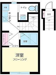 東京都品川区大崎2丁目の賃貸アパートの間取り