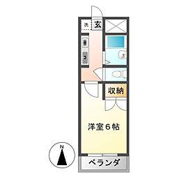 ホワイトウィング左入[2階]の間取り