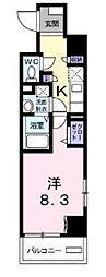 都営新宿線 瑞江駅 徒歩17分の賃貸マンション 7階1Kの間取り