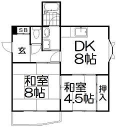 富尾ビル[5階]の間取り