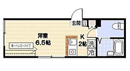 小田急小田原線 千歳船橋駅 徒歩3分の賃貸マンション 1階ワンルームの間取り