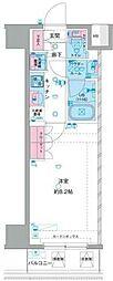 西武新宿線 鷺ノ宮駅 徒歩9分の賃貸マンション 7階1Kの間取り