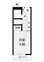 東京都練馬区豊玉南2丁目の賃貸マンションの間取り