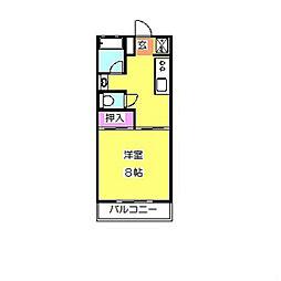 神奈川県横浜市港北区師岡町の賃貸アパートの間取り
