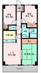 グレイスコート二俣川 弐番館[4階]の間取り