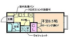 クリオコート箕面[2階]の間取り