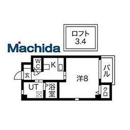 泉北高速鉄道 深井駅 徒歩4分の賃貸マンション 4階1Kの間取り