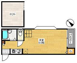 スカイハイツ博多駅東[2階]の間取り