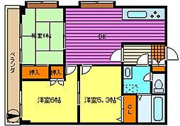 第93新井ビル[103号室]の間取り