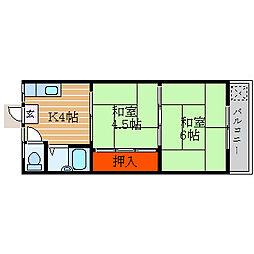 滋賀県彦根市高宮町の賃貸アパートの間取り