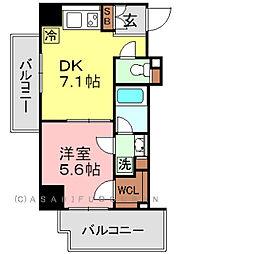 パークアクシス元浅草ステージ[5階]の間取り