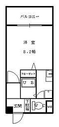 カノン白木原[304号室]の間取り