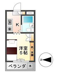 第3エコーマンション[3階]の間取り