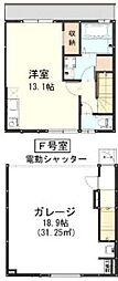 東武東上線 朝霞台駅 バス11分 朝霞田島下車 徒歩4分の賃貸アパート 1階ワンルームの間取り