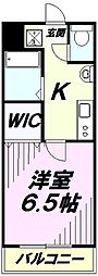 Fille Flats SHINSAYAMA 2階1Kの間取り