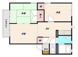 ディアス甲栄台C[2階]の間取り