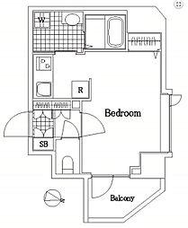 ザ・レジデンス・オブ・トーキョーY11 5階ワンルームの間取り