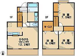 [テラスハウス] 東京都多摩市東寺方1丁目 の賃貸【/】の間取り
