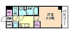 プレサンス塚本駅前[15階]の間取り