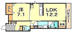 (仮称)シャーメゾン神戸市東灘区深江南町 2階1LDKの間取り