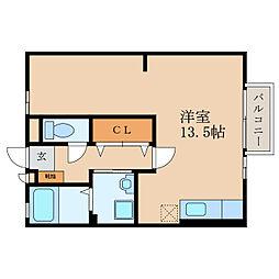 滋賀県大津市唐崎4丁目の賃貸アパートの間取り