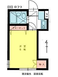 神奈川県川崎市多摩区栗谷4丁目の賃貸アパートの間取り