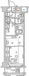 東急多摩川線 矢口渡駅 徒歩4分の賃貸マンション 3階1DKの間取り