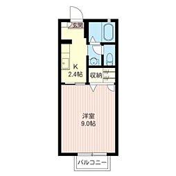 エーデル桜 A[102号室]の間取り