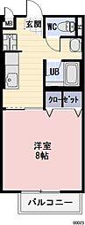 岐阜県安八郡安八町牧の賃貸アパートの間取り